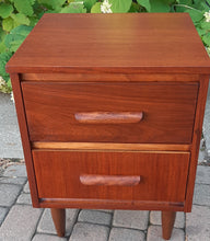 Load image into Gallery viewer, 2 REFINISHED Mid Century Modern Walnut Nightstands - Mid Century Modern Toronto