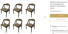 Load image into Gallery viewer, 4 RESTORED MCM Kai Kristiansen Teak Chairs Model 31 (includes custom upholstery), each $399 - Mid Century Modern Toronto