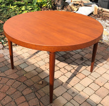 "Load image into Gallery viewer, REFINISHED Danish MCM  Round Teak Table w 2 Leaves 47""-86.5"" by Harry Ostergaard - Mid Century Modern Toronto"