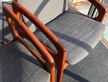 Load image into Gallery viewer, ON HOLD Teak MCM REUPHOLSTERED Angled Arm Chair by Kai Kristiansen, grey; 6 chairs available - Mid Century Modern Toronto