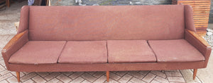 Danish MCM Teak Sofa 4-Seater will be REFINISHED & REUPHOLSTERED
