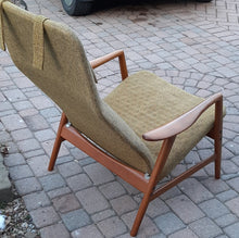 Load image into Gallery viewer, On Hold***Will be REFINISHED & REUPHOLSTERED Danish MCM Teak Lounge Chair Recliner by Arne Vodder and Anton Borg