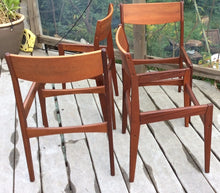 Load image into Gallery viewer, Set of 4 Poul Volther for Frem Rojle Mid Century Modern Teak Dining Chairs REUPHOLSTERED - Mid Century Modern Toronto