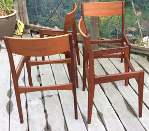 Set of 4 Poul Volther for Frem Rojle Mid Century Modern Teak Dining Chairs REUPHOLSTERED - Mid Century Modern Toronto