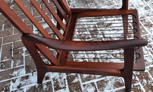 REFINISHED Danish MCM Solid Teak Lounge Chair PERFECT