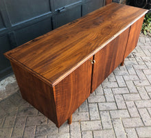 "Load image into Gallery viewer, REFINISHED Italian MCM Teak & Walnut Bar Credenza 65.5"" - Mid Century Modern Toronto"