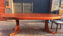 "Load image into Gallery viewer, REFINISHED Grand MCM  Teak Table w 1 Leaf Oval 71""-92"" - Mid Century Modern Toronto"