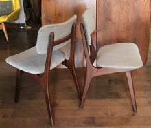 Load image into Gallery viewer, Set of 2 REUPHOLSTERED Danish MCM Teak Chairs, by  Arne Hovmand Olsen, each $275 (only this pair is available) - Mid Century Modern Toronto