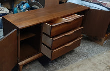 Load image into Gallery viewer, REFINISHED MCM Walnut Buffet Sideboard 5 ft Perfect