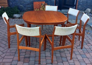 "REFINISHED Danish MCM Teak Table by Skovmand and Andersen (no leaf) 45""x45"", perfect - Mid Century Modern Toronto"