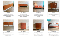 Load image into Gallery viewer, REFINISHED MCM Teak Bed with floating night stands Queen, Low profile - Mid Century Modern Toronto