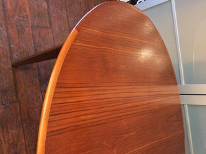 "REFINISHED MCM Teak Table Oval (no leaf) 64"" x 42"", perfect - Mid Century Modern Toronto"