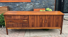 "Load image into Gallery viewer, REFINISHED MCM Rosewood Sideboard TV Console 78"" perfect - Mid Century Modern Toronto"