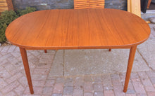 "Load image into Gallery viewer, MCM Oval Teak Table Extendable REFINISHED by TROEDS 61""-83"" perfect - Mid Century Modern Toronto"