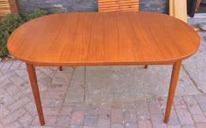 "MCM Oval Teak Table Extendable REFINISHED by TROEDS 61""-83"" perfect - Mid Century Modern Toronto"
