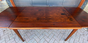"REFINISHED Danish MCM Rosewood Draw Leaf Table by H. Kjaernulf  51"" - 93"" PERFECT"