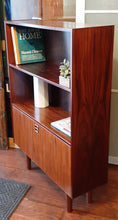 Load image into Gallery viewer, RESTORED Danish MCM Rosewood Cabinet with Bar, 34.5""