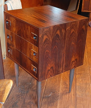 Load image into Gallery viewer, REFINISHED Danish MCM Rosewood Chest 3 Drawers & Mirror PERFECT