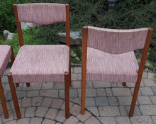 Load image into Gallery viewer, 4 REFINISHED Danish MCM teak chairs by Poul M.Volther PERFECT, ready for new upholstery