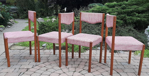 4 REFINISHED Danish MCM teak chairs by Poul M.Volther PERFECT, ready for new upholstery