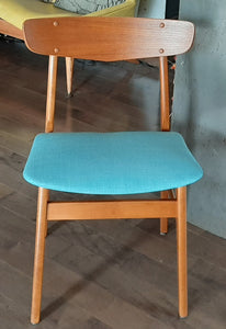 Single Danish MCM Teak Chair, Perfect