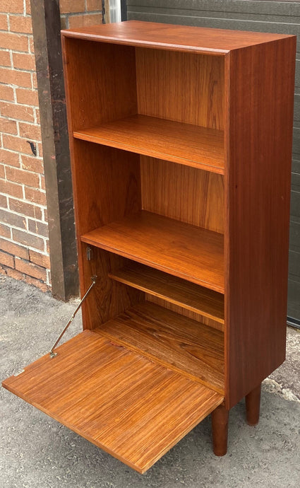 REFINISHED Danish MCM Bar Cabinet, compact