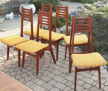 Load image into Gallery viewer, 6 Danish MCM Teak Chairs by Kai Kristiansen, ready for new upholstery