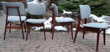 Load image into Gallery viewer, 4 REFINISHED REUPHOLSTERED Danish MCM Teak Dining Chairs, A. Olsen style,  like new