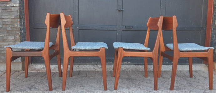 Coming soon***4 Danish MCM Teak Chairs by Erik Buch REFINISHED