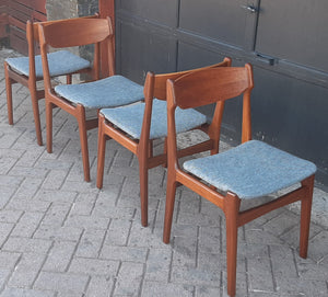 4 Danish MCM Teak Chairs by Erik Buch REFINISHED