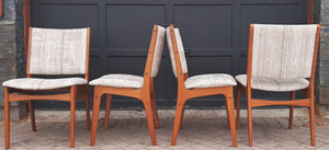 4 Danish MCM Teak Chairs by Johannes Andersen RESTORED