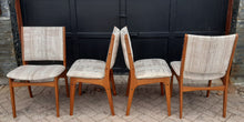 Load image into Gallery viewer, 4 Danish MCM Teak Chairs by Johannes Andersen RESTORED