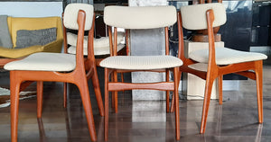 4 Danish MCM Teak Chairs  RESTORED, perfect, each $249 (6 similar chairs are available) - Mid Century Modern Toronto