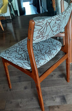 Load image into Gallery viewer, 4 REFINISHED Danish MCM Teak Dining Chairs, ready for new upholstery