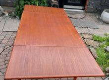 Load image into Gallery viewer, REFINISHED Danish MCM Teak Draw Leaf Table, PERFECT 51-91""