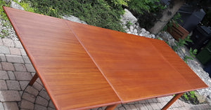 REFINISHED Danish MCM Teak Draw Leaf Table, PERFECT 51-91""