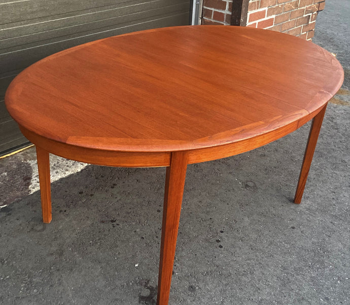 REFINISHED Danish MCM Teak Dining Table w 2 Leaves by A.H.Olsen, PERFECT, 64