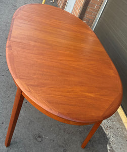 "REFINISHED Danish MCM Teak Dining Table w 2 Leaves by A.H.Olsen, PERFECT, 64"" - 103"""