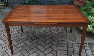 "REFINISHED Danish MCM Teak Draw Leaf Table by Vejle Mobelfabrik 53""-93"", PERFECT"