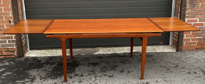 REFINISHED Danish MCM Teak Dining Table w 2 Leaves by Niels O. Moller, PERFECT, 63