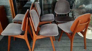 6 REFINISHED Danish MCM Teak Shield Back Chairs by Arne Hovmand-Olsen