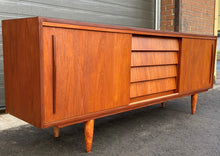 Load image into Gallery viewer, REFINISHED MCM Teak Sideboard Buffet 6 ft , PERFECT
