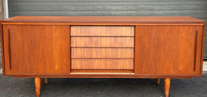 REFINISHED MCM Teak Sideboard Buffet 6 ft , PERFECT