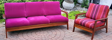 Load image into Gallery viewer, REFINISHED Danish MCM Teak 3-Seater Sofa & Lounge chair - PERFECT