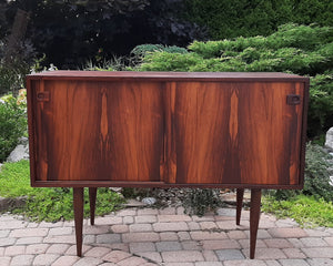 REFINISHED Danish MCM Rosewood Cabinet with 2 sliding doors 43""