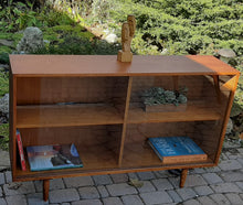 "Load image into Gallery viewer, REFINISHED Danish MCM Teak Display Bookcase 48"" PERFECT"