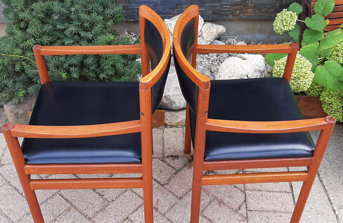 4 Danish MCM Teak Arm Chairs REFINISHED