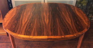 ON HOLD FOR BRITTANY-REFINISHED Danish MCM Rosewood Table Oval no leaves, seats 6 - Mid Century Modern Toronto