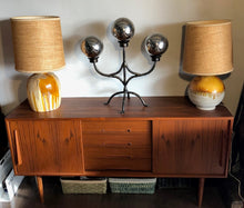 "Load image into Gallery viewer, Danish MCM Teak Sideboard Media Console 63"" perfect - Mid Century Modern Toronto"