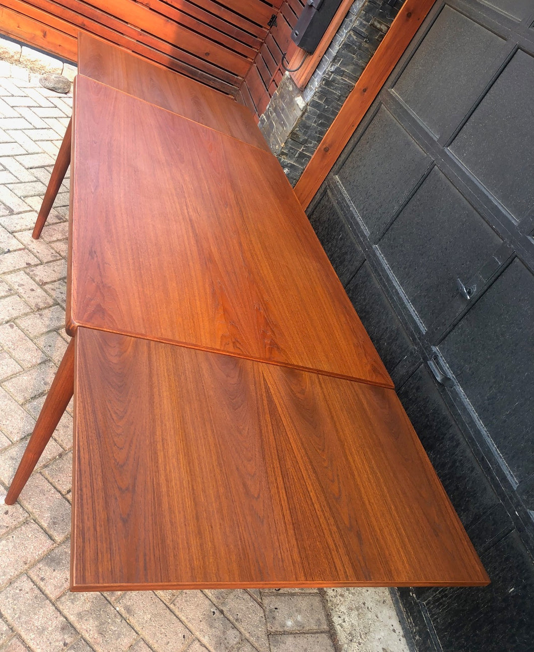 REFINISHED Danish MCM Teak Draw Leaf Table by H. Kjaernulf 55